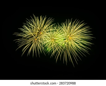 Fireworks in the night at Bangkok, Thailand