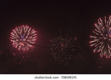 Fireworks in the night sky at the festival.