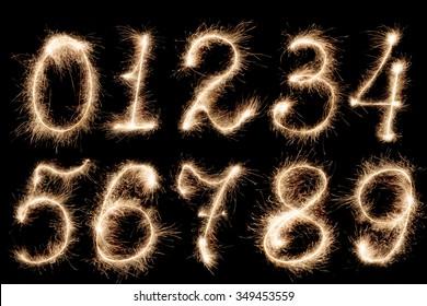 Fireworks numbers, set
