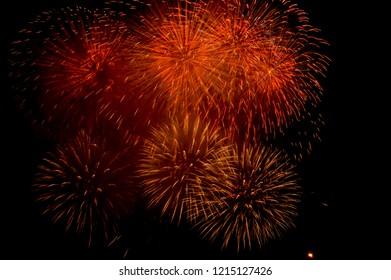 fireworks in obon