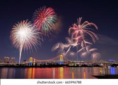 Fireworks in Odaiba