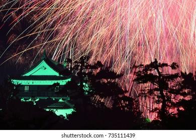 Fireworks with Okazaki Castle