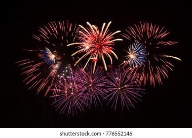 Fireworks on Bahrain National Day, December 16, 2017