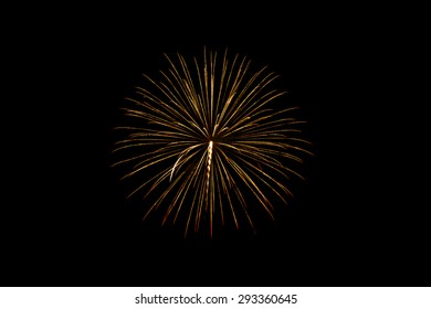Fireworks on the black background