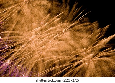 Fireworks on the dark backgrounds