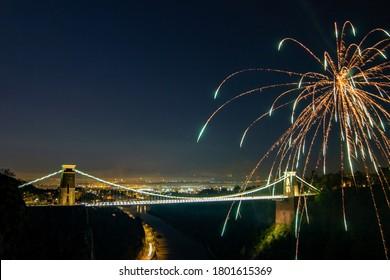 Fireworks Over Clifton Suspension Bridge