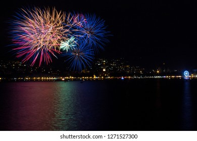 Fireworks over Lecco