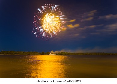Fireworks over the river