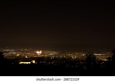 Fireworks over Zagreb.