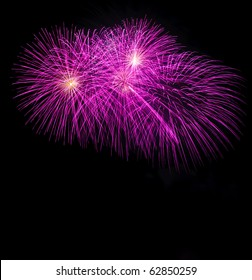 Fireworks at Pattaya beach, Thailand