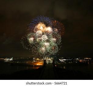 Fireworks in Putrajaya.