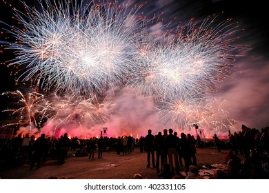 Fireworks & Pyrotechnics at Chantilly palace, France