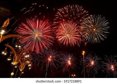 Fireworks at Sheikh Zayed Heritage Festival, UAE