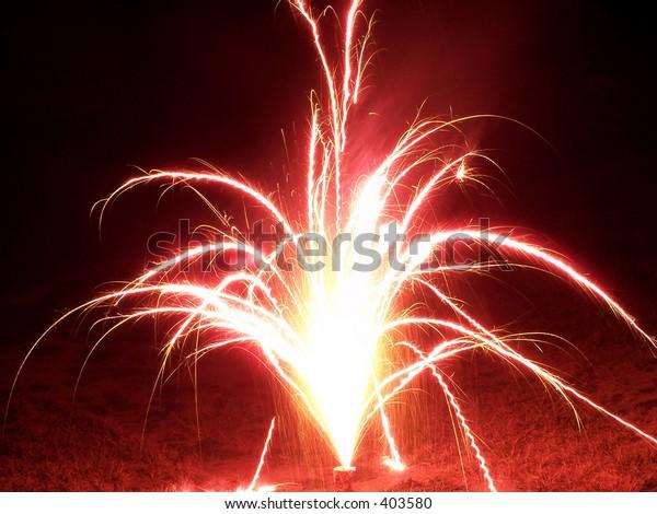 Fireworks shot in  the backyard.