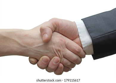 firm handshake after the completion of the transaction
