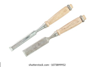 Firmer chisels isolated on white