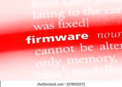 firmware word in a dictionary. firmware concept