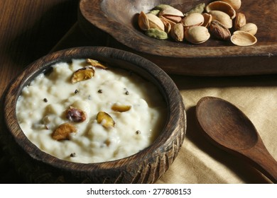 Firnee is a traditional dessert in the Indian subcontinent, usually a rice pudding made by boiling rice with milk and sugar