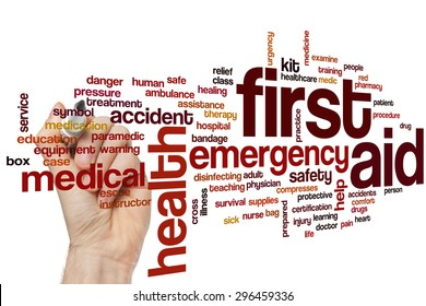 First aid concept word cloud background