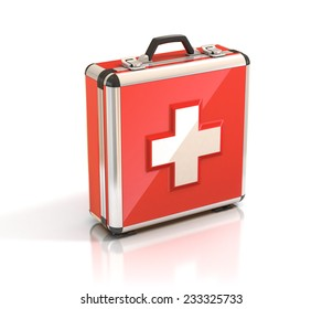 first aid kit - medical case 3d illustration