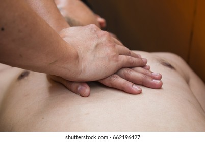 First Aid on a Man who has Heart Attack (Emergency CPR).