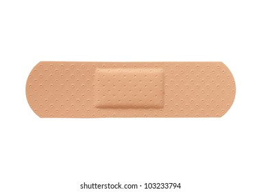 First aid plaster isolated