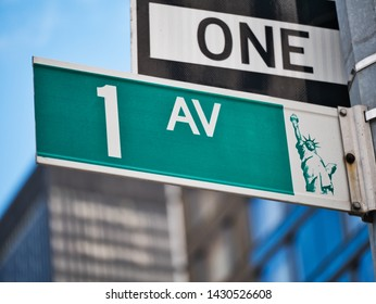 first avenue sign in manhattan new york city