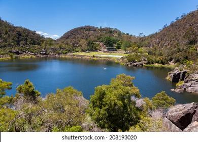 First Basin at Cataract George in Launceston, Tasmania, Australia