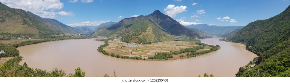 The first Bend of Yangtze River Yunnan, China