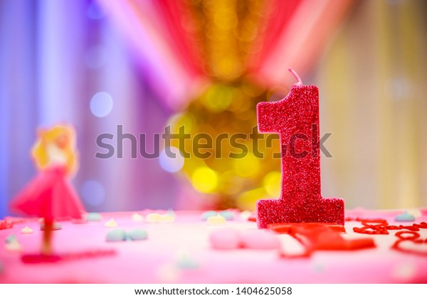 Peachy First Birthday Cake Barbie Girl On Stock Photo Edit Now 1404625058 Funny Birthday Cards Online Barepcheapnameinfo