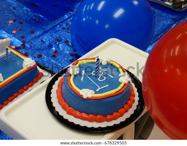Astounding First Birthday Cake Boy Stock Photo Edit Now 678329503 Funny Birthday Cards Online Elaedamsfinfo