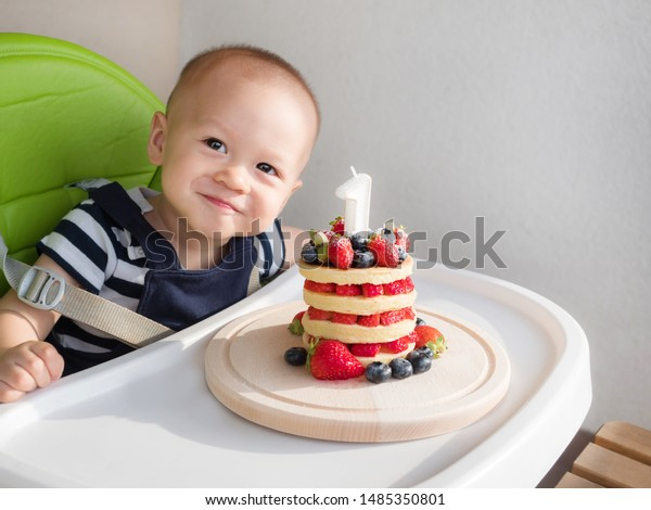 Strange First Birthday Cake Happy Mixed Race Stock Photo Edit Now 1485350801 Personalised Birthday Cards Arneslily Jamesorg