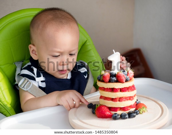 Fabulous First Birthday Cake Happy Mixed Race Stock Photo Edit Now 1485350804 Birthday Cards Printable Inklcafe Filternl