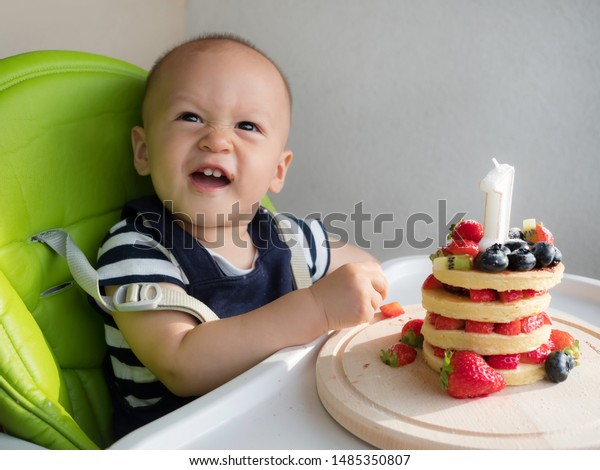 Sensational First Birthday Cake Happy Mixed Race Stock Photo Edit Now 1485350807 Funny Birthday Cards Online Inifofree Goldxyz