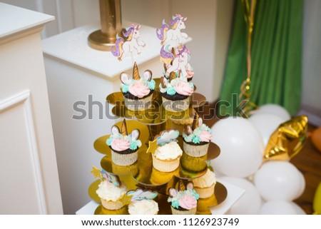 First Birthday Party Unicorn Cake