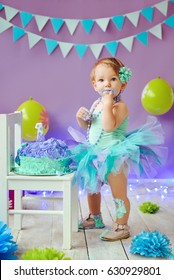 first birthday Portraits with smash cake