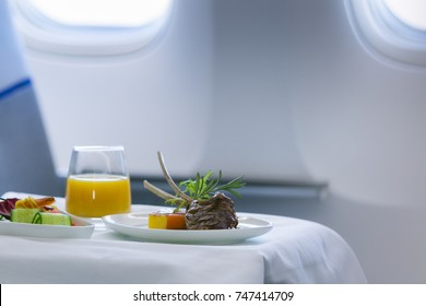 First class airline meal