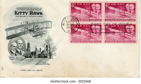 first day cover commemorating first powered flight