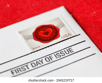 First Day of Issue USA Mail Love Stamp
