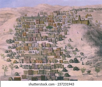 First European image of the African city Timbuktu by Ren_-Auguste Caillie (1799- 1838) Caillie was the first European to return from Timbuktu described in THE UNVEILING OF TIMBUCTOO.