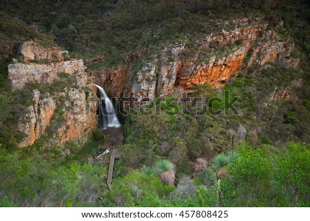 First Falls in Morialta Conservation Park in the Adelaide Hills, South Australia is a popular destination for locals and tourists alike.