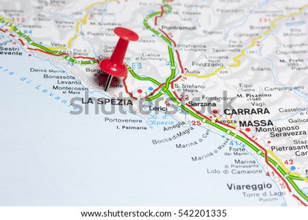 Lerici Italy Map.First Floor La Spezia Italy On Stock Photo Edit Now 542201335