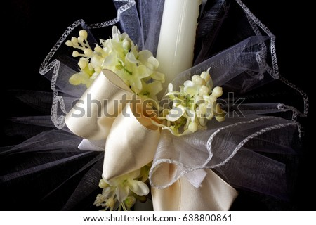 First Holy Communion Candle Decoration Stock Photo Edit Now