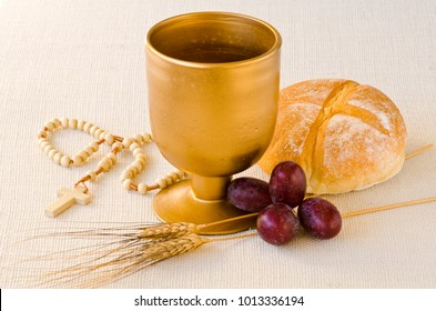 First Holy Communion composition on white background.