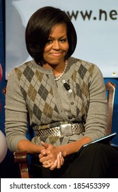 First Lady Michelle Obama at a public appearance for National Education Association, NEA, Read Across America Day Kick Off, Library of Congress, Washington, DC March 2, 2010