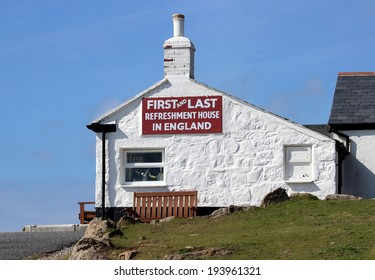 First and last house in Lands end Cornwall