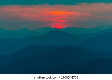 First Light of the Day in the Smokey Mountains