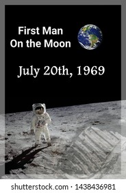 the first man on the moon occurred on july 20th, 1969 (some elements courtesy of nasa)