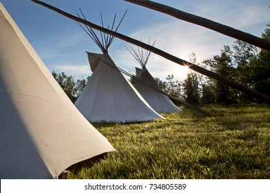 First Nation Teepee La Ronge Saskatchewan Canada