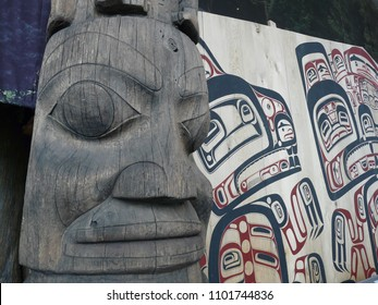 First Nations Totem Poles in Canada
